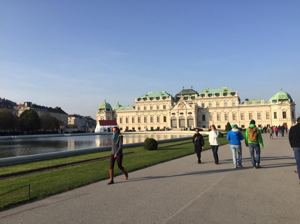 維也納 秋日散步至 Belvedere 貝維爾皇宮